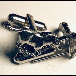 Cufflinks Silver Horse Pioneer